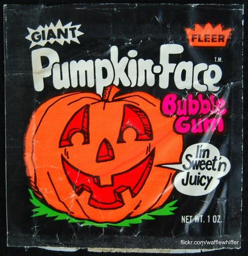Pumpkin-Face Bubble Gum
