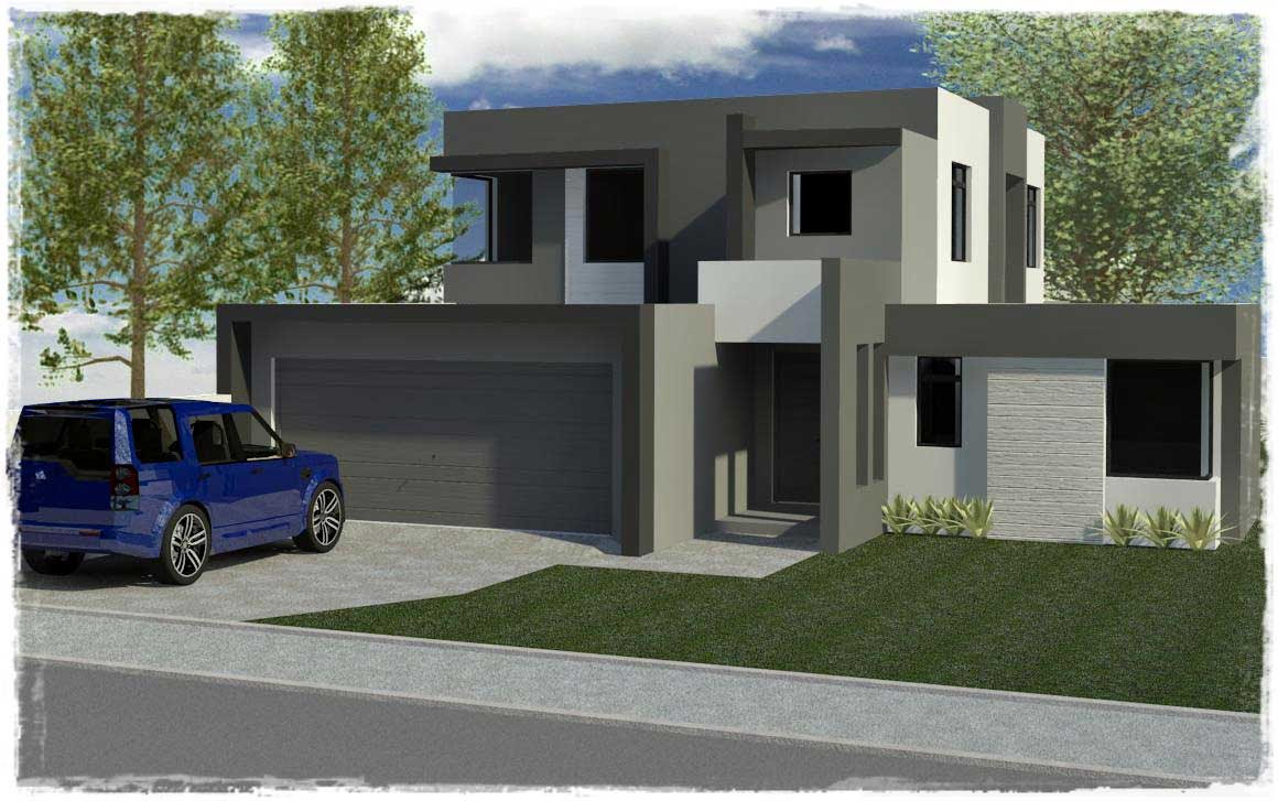 Modern double storey house plans in south africa design
