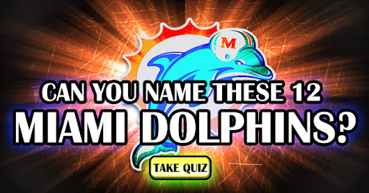 Can You Name These 12 Miami Dolphins?