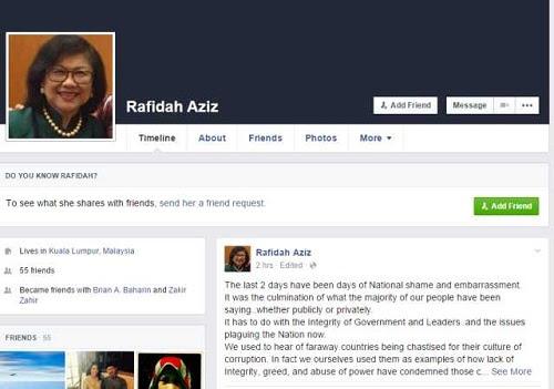 Isu rasuah: 'Pemimpin kita dipersoal, malukan negara' - Rafidah Aziz