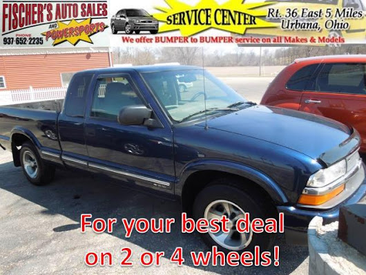 Used 2001 Chevrolet S10 Pickup for Sale in Urbana OH 43078 Fischer's Auto Sales & Powersports