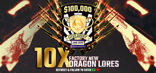 $14,000 | 10 x AWP | Dragon Lore Giveaway