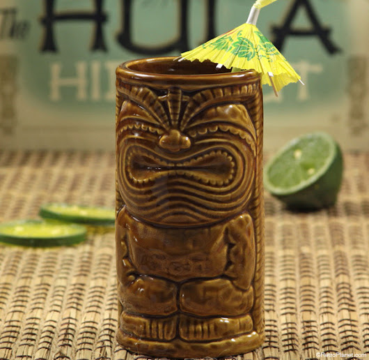 Captain Morgan White Rum Commercial Tiki Mugs