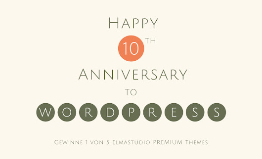 WordPress turns 10: Let's celebrate with a little Theme Giveaway | Elmastudio
