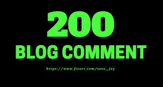 seox_joy : I will do 200 blog comment backlinks with low obl for $5 on www.fiverr.com