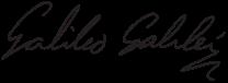 Firma Galileo Galilei