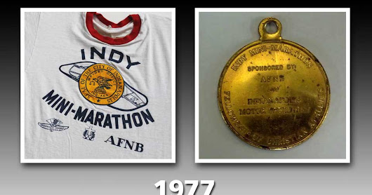 Mini-Marathon medals and T-shirts through the years