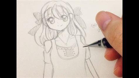 draw  manga girl step  step  slow tutorial