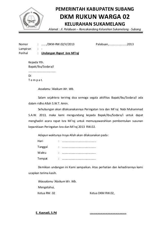 contoh undangan rapat contoh 0108