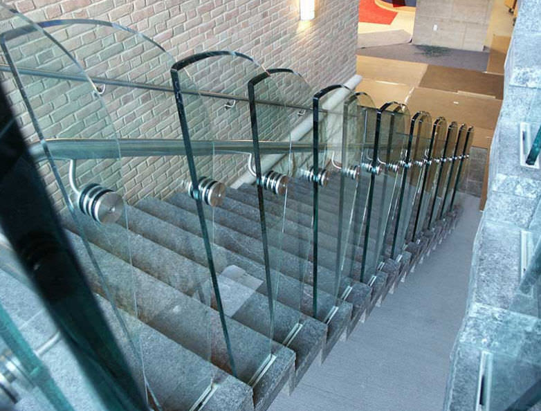 Stainless Steel Railing Glass Panel Indoor For Stairs 33705