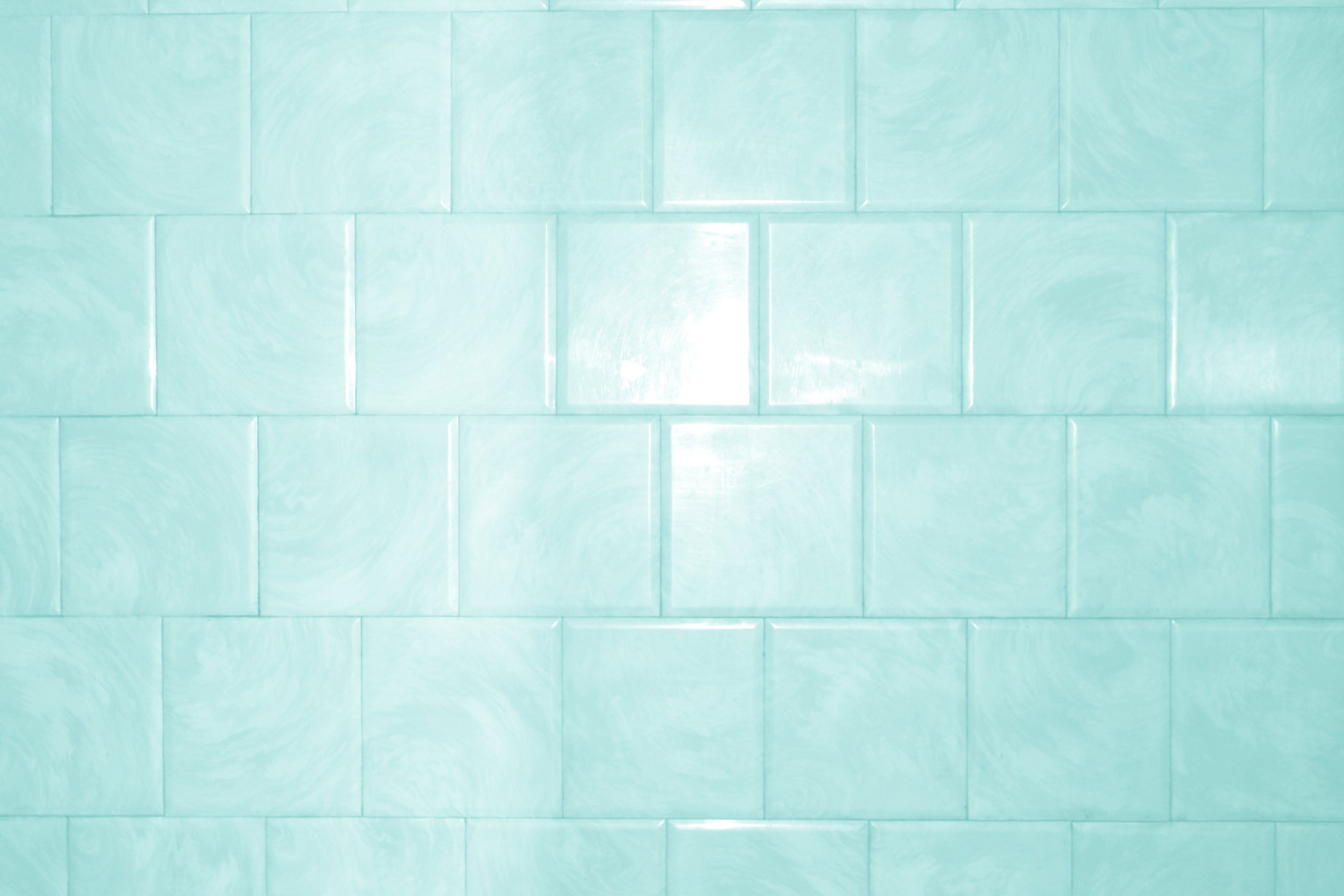 Aqua or Teal Colored Bathroom Tile Texture with Swirl ...