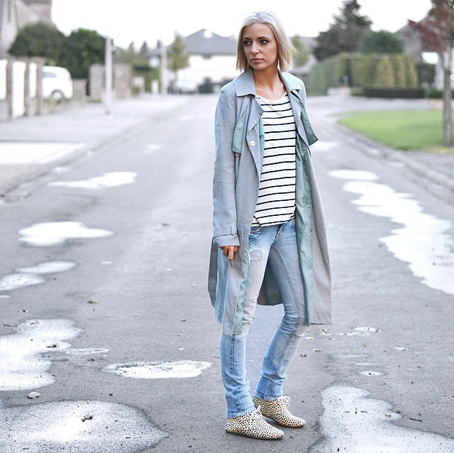 Outfit post by fashion blogger turn it inside out from belgium belgie: how to wear trenc-coat mac grey asos oversized stripes dots leopard h&m zara jeans grey colors minimal maruti faux fur