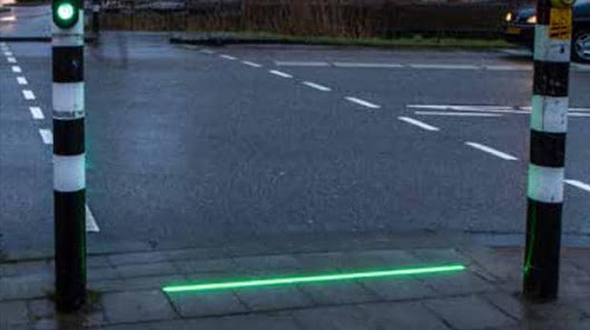 Pavement lights installed near Dutch schools to guide smartphone-obsessed pedestrians