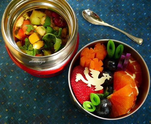 Veggie Chili Phoenix Bento by sherimiya ♥