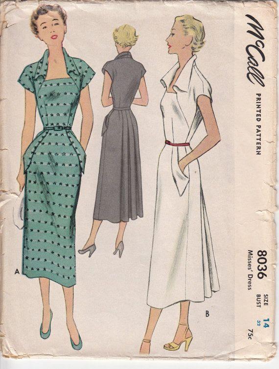 Vintage 50s Sewing Pattern