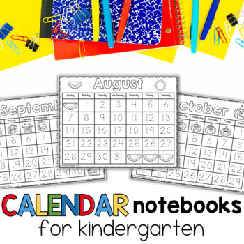calendar wall, math wall, calendar time, kindergarten math wall, calendar notebooks