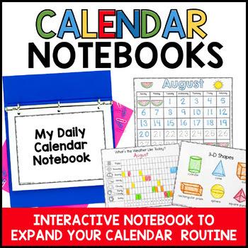 calendar wall, math wall, calendar time, kindergarten math wall, calendar notebooks