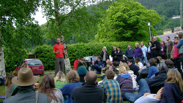 Mark Boyle was one of the speakers at the Uncivilization Festival where frank opinions were exchanged in bucolic surroundings.