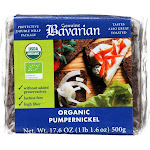 Genuine Bavarian Organic Bread - Pumpernickel - Case Of 6 - 17.6 Oz.