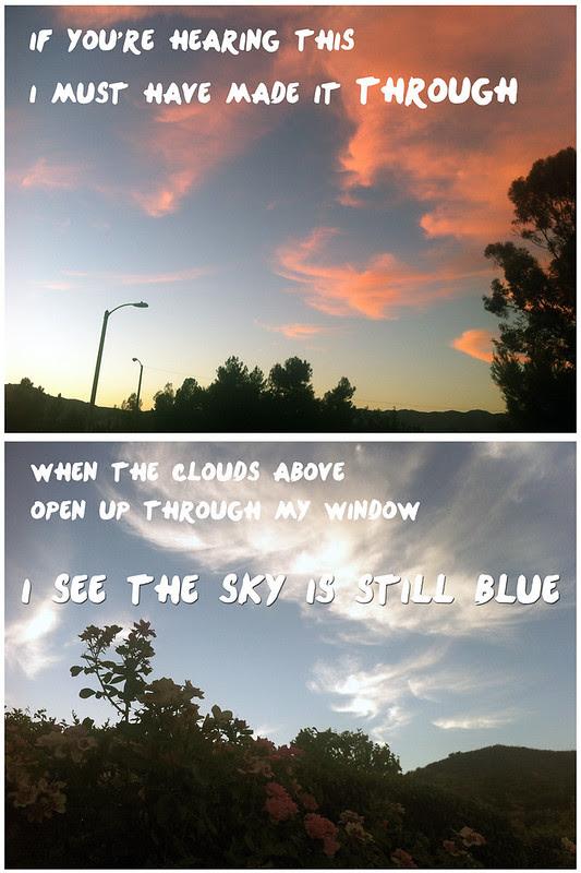 sky is still blue