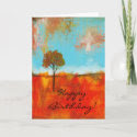 Rapture Happy Birthday Card From Original Painting card