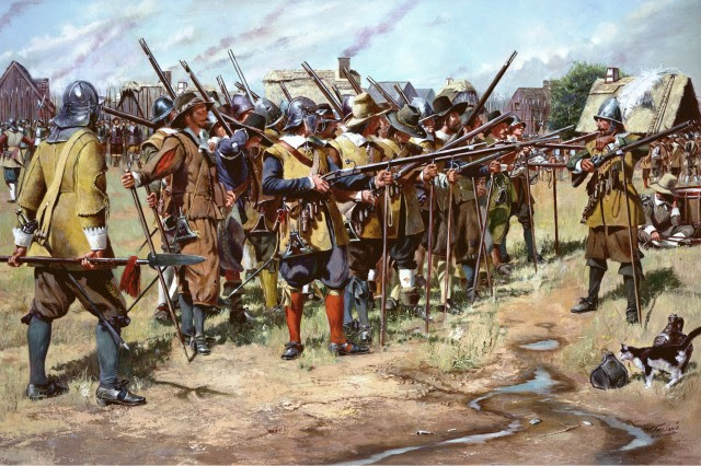 First muster of the militia
