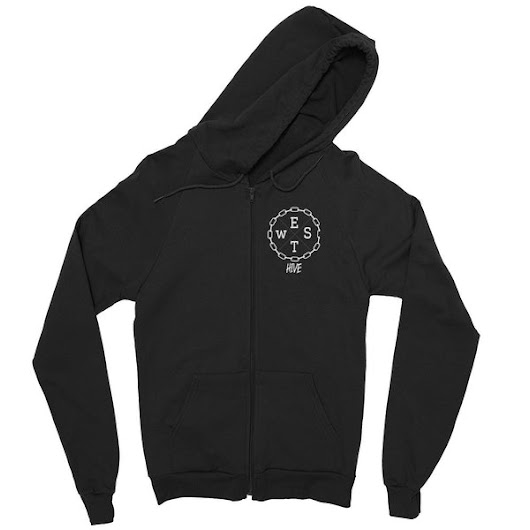 Logo Zip Up Hoodie | West Hive Clothing Co.