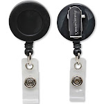 Baumgartens - Badge reel - 1.26 in diameter - black