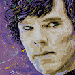 Sherlock Painting, Benedict Cumberbatch Art  - Splintered Studios - The Art of Stephen Quick