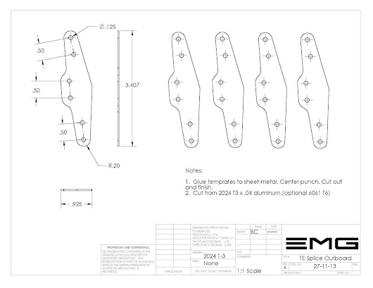 EMG-6 Home of the EMG-6 Electric Motor Glider 27-11-13 TE Splice Outboard | EMG-6