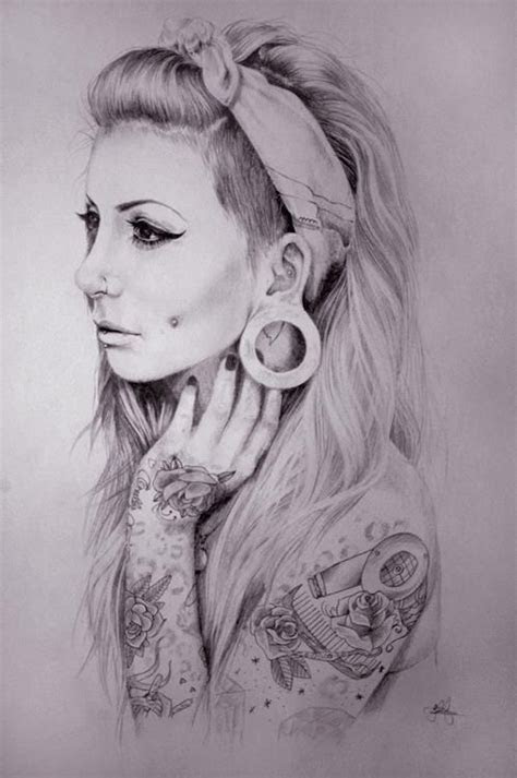 tattoo girl drawing design tattowmag