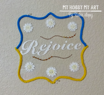 Clear Scraps, Clear acrylic sign, Ruthie Lopez