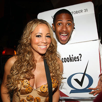 Mariah Carey as cookies, Nick Cannon as milk - Our Favorite Stars in Halloween costumes