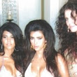 They were always camera ready! Kourtney, Kim and Khloe Kardashian sport bouffants and bikinis in one of their first photo shoots