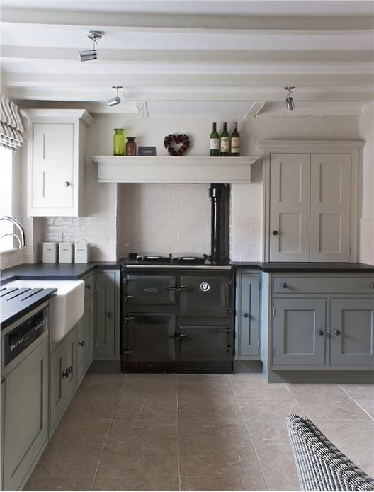 Farrow and Ball Pigeon kitchen
