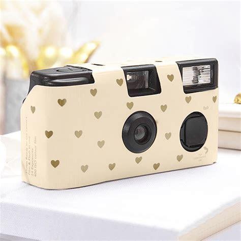 Gold Heart Disposable Camera   Wedding Cameras, Disposable