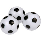 Hathaway Soccer Ball Style Foosballs - 3-Pack, White