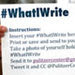 Celebrate the National Day On Writing by Posting #WhatIWrite Messages on Twitter