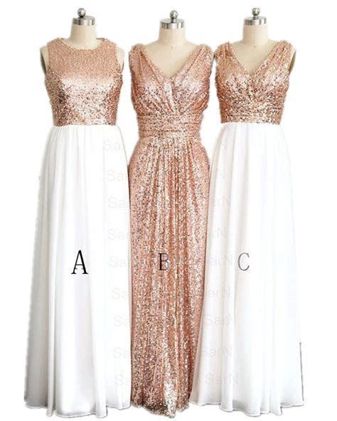 Hot Sale 3 Styles Rose Gold Bridesmaid Dresses Plus Size