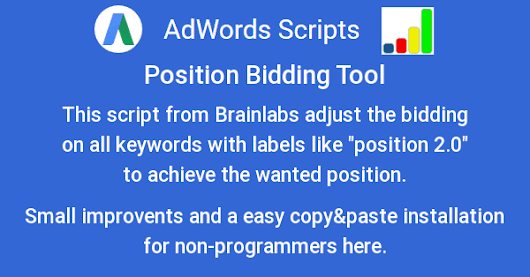 AdWords-Script for Position Bidding