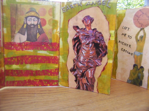 Collaged Accordion Book 4