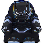 Marshmallow Furniture Children's Comfy Foam Cushion Chair Lounger, Black Panther by VM Express