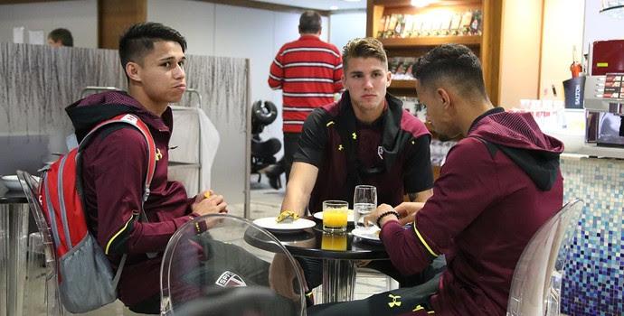 Jogadores São Paulo Aeroporto (Foto: Rubens Chiri/saopaulofc.net)