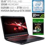 "Acer Nitro 5 Gaming Laptop, 15.6"" IPS FHD, GTX 1650, Core i5-9300H, 12GB RAM, 512GB SSD+2TB SSHD, Backlit, Sea Of Thieves"