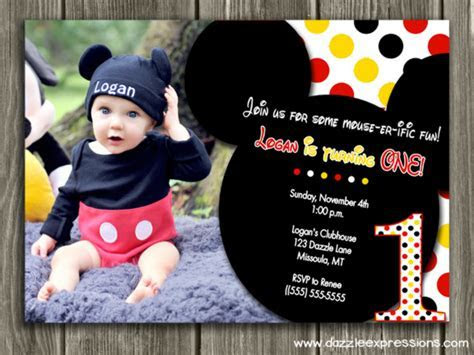 Printable Mickey Mouse Birthday Invitation   Kids First