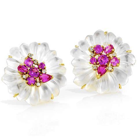 Mother of Pearl Flower Jewelry   More Earrings   Earrings