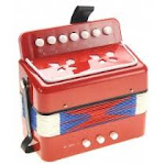 AZ Import PS130 Red Childrens Musical Instrument Accordion Red