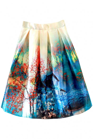 http://www.beautifulhalo.com/landscape-print-high-waist-mini-full-skirt-p-231315.html