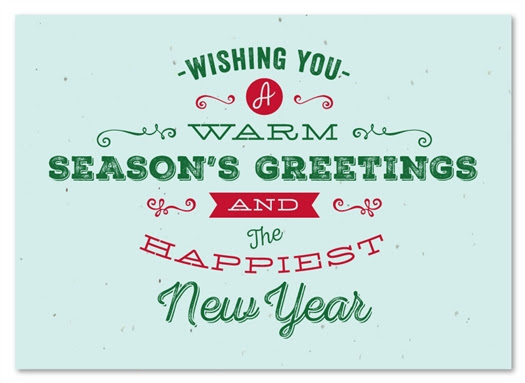 Typography Business Holiday Cards