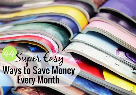 44 Super Easy Ways to Save Money - Frugal Rules